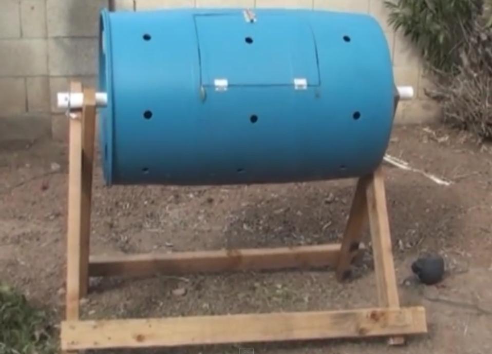 Horizontal Axel Compost Tumbler