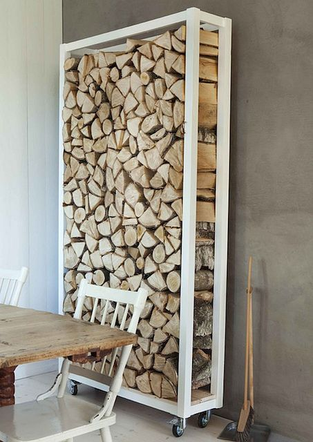 Inside Firewood Storage