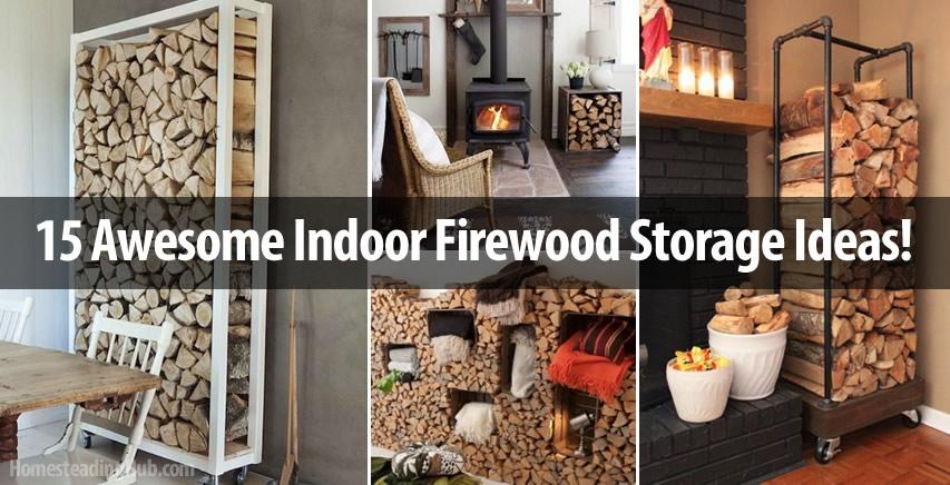 Amazing 15 AWESOME INDOOR FIREWOOD STORAGE IDEAS Amazing Ideas
