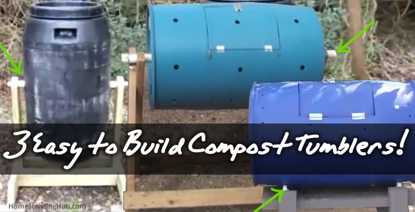 3 Easy to Build Compost Tumblers