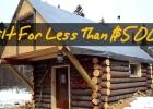 Log Cabin Built For Under $500