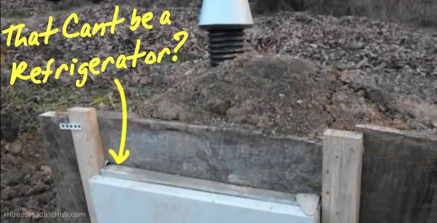 Awesome Idea Make A Root Cellar From An Old Refrigerator