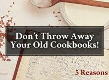 Keep Your Old Cookbooks