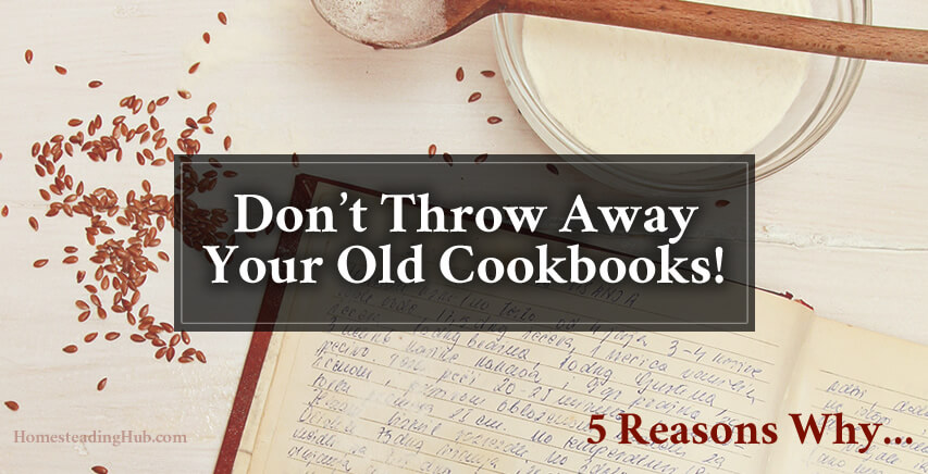 Keep Your Old Cookbooks